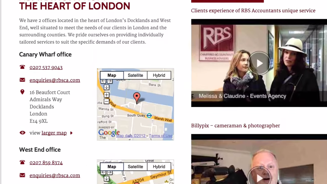 RBSCA, Our offices in London West